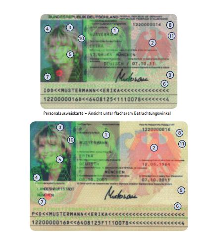 Deutscher Personalausweis alt