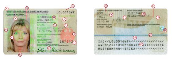 Deutscher Personalausweis neu