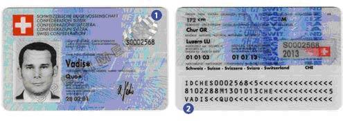 Identitätskarte Schweiz