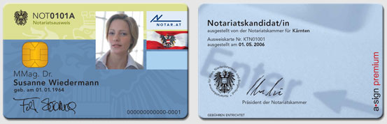 Notariatskandidatenausweis