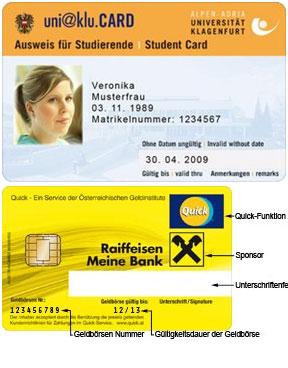 Studentenausweis der Alpen-Adria Universität Klagenfurt