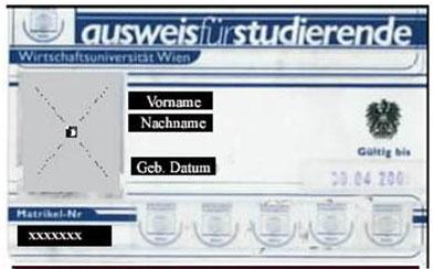 Studentenausweis der WU Wien
