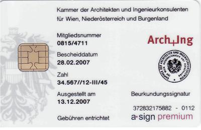 Rückseite des Dienstausweises der Republik Österreich